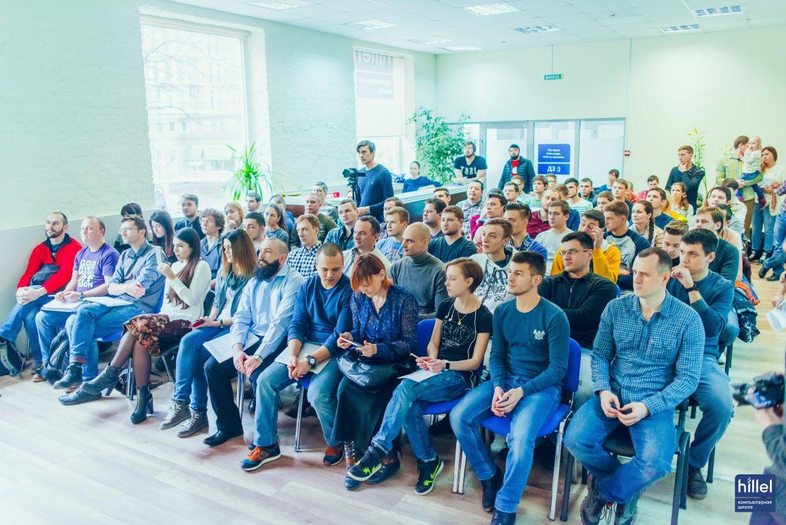 Новости школы: Презентация рабочих прототипов программы Hillel Evo. Посмотреть на результаты работы команд Hillel Evo собрался полный зал