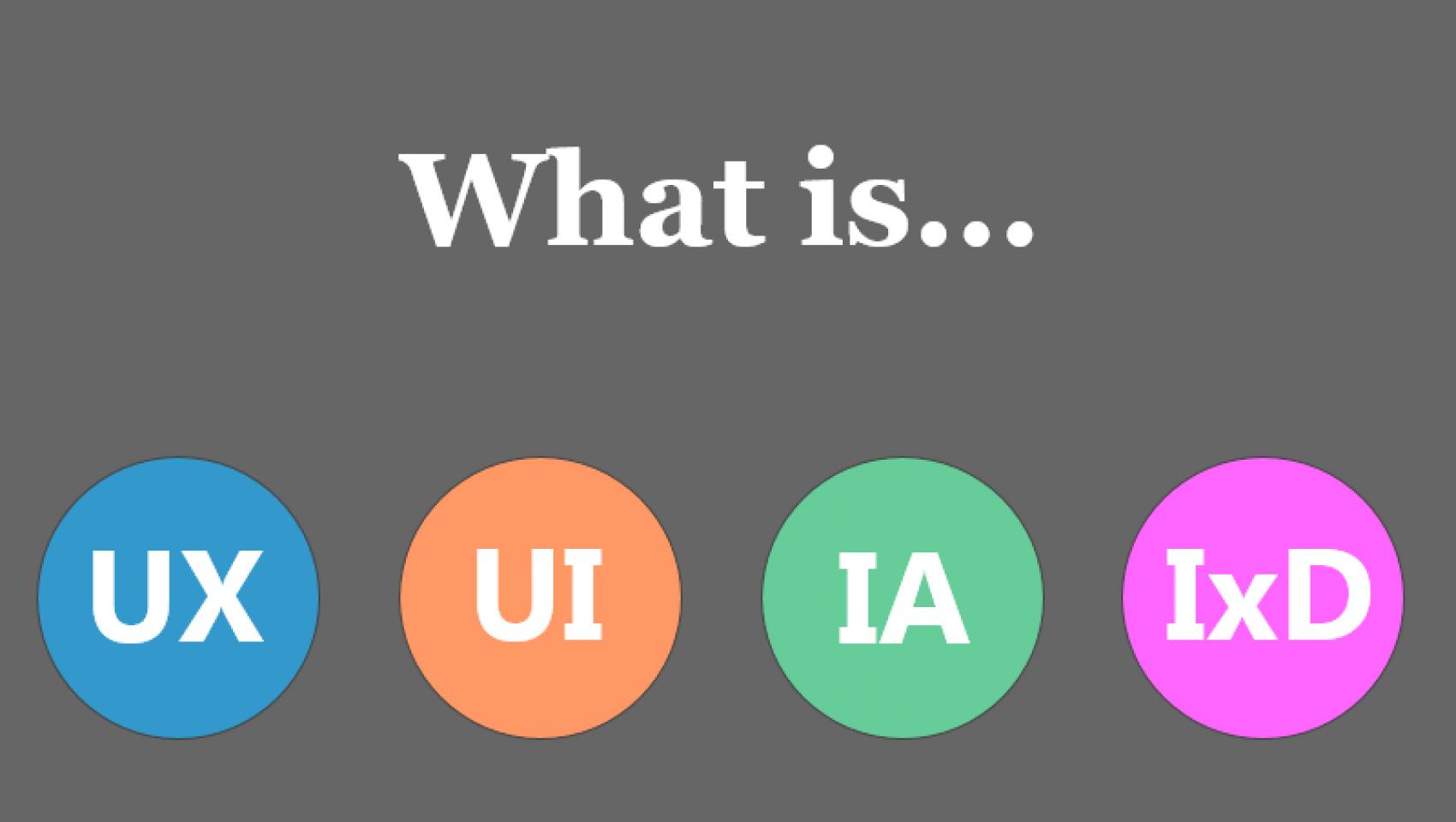 UX vs UI vs IA vs IxD: что означают эти аббревиатуры?