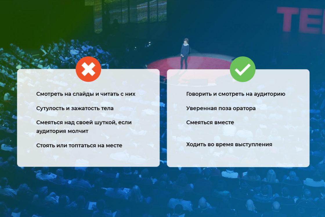 Статьи: Публичные выступления: лайфхаки, наблюдения и фишки от Александра Олейника. Что делать и чего не делать во время публичного выступления
