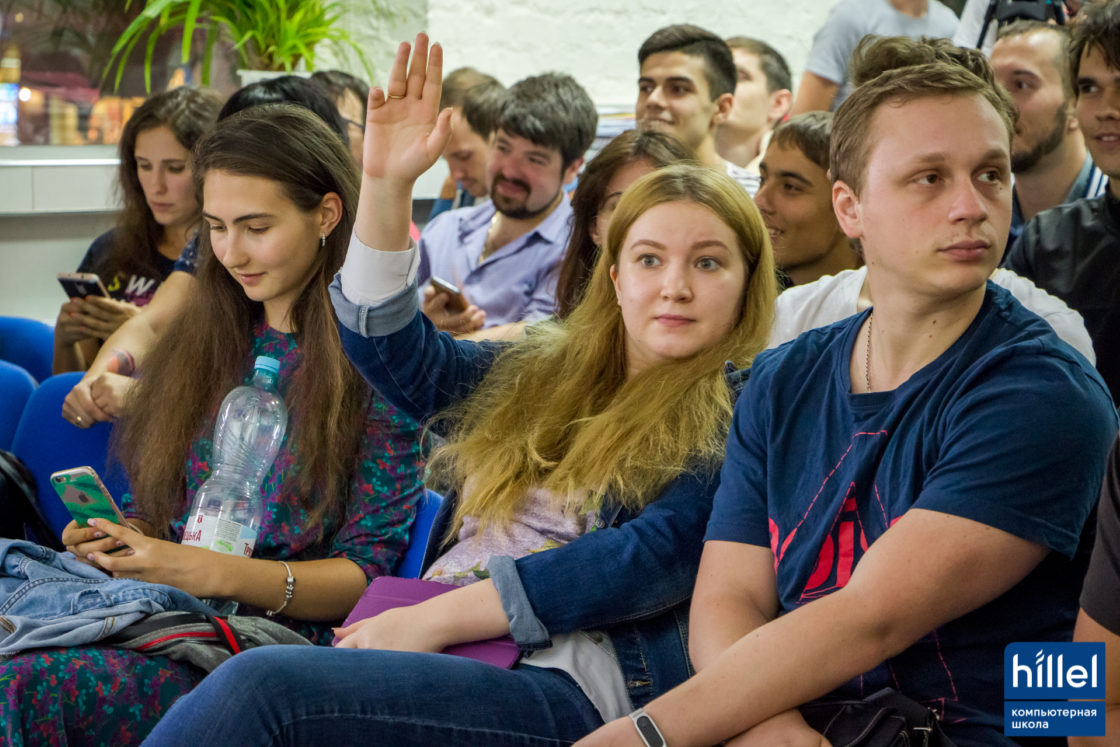 Новости школы: Презентация рабочих прототипов проектов в рамках второго цикла программы Hillel Evo в Одессе. Зрители в зале активно задавали вопросы участникам команд