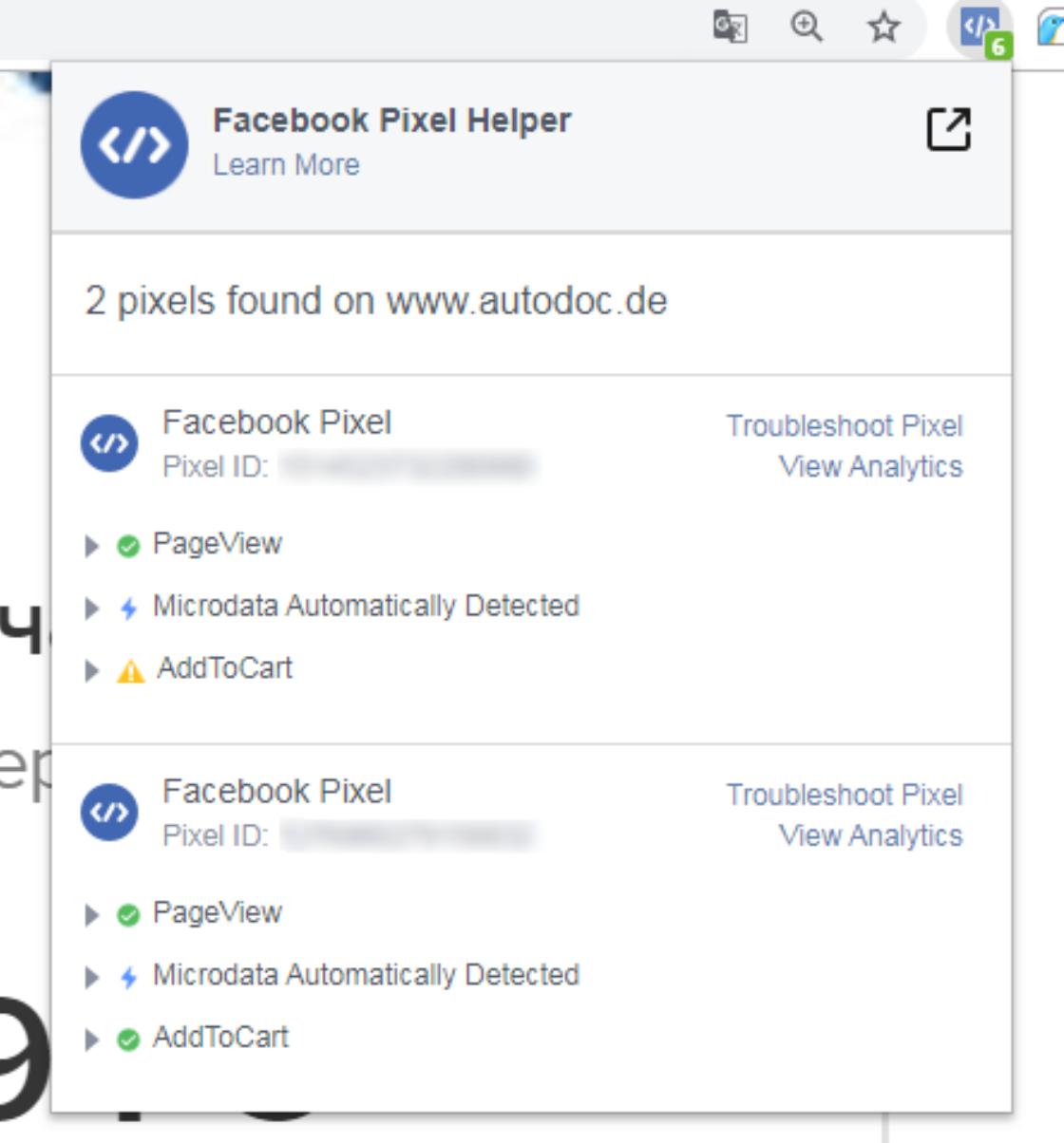 Статті: Динамічна реклама в Facebook: що це і як її налаштувати. Facebook Pixel Helper